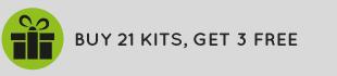Buy 21 kits, get 3 free