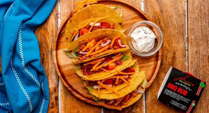 BBQ Pulled Chicken Tacos Recipe made with JD Seasonings