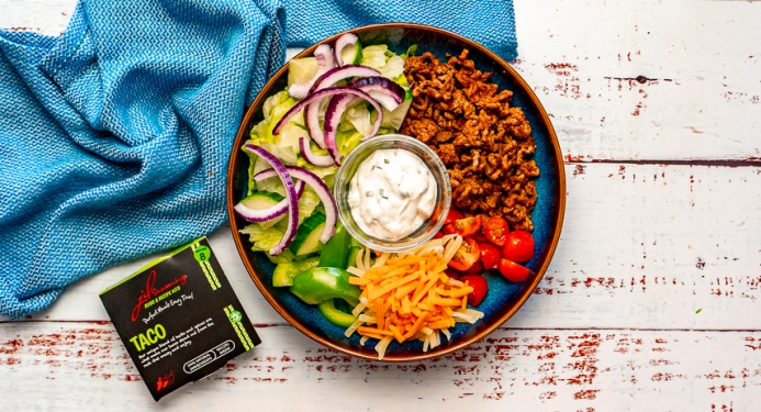 Beef Taco Bowl Recipe made with JD Seasonings