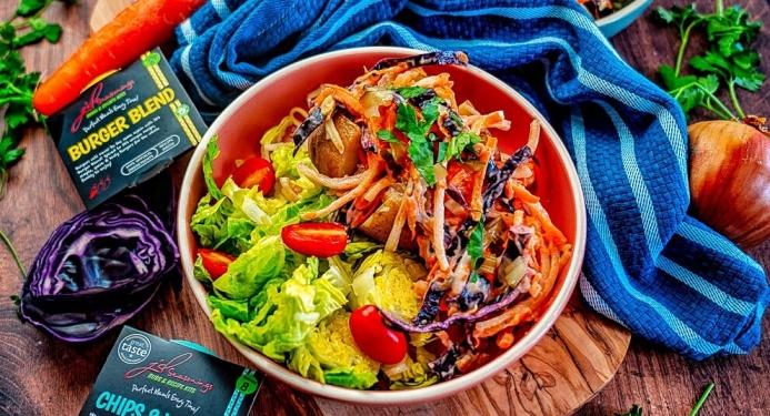 Burger Slaw Baked PotatoesRecipe made with JD Seasonings