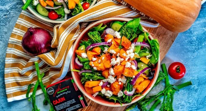 Cajun Butternut & Feta Salad Recipe made with JD Seasonings