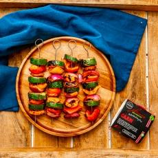 Cajun Rainbow Veggie Skewers