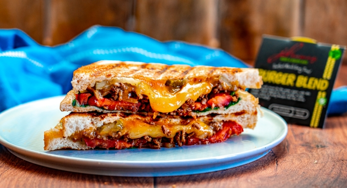 A recipe for Cheeseburger Toastie from JD Seasonings