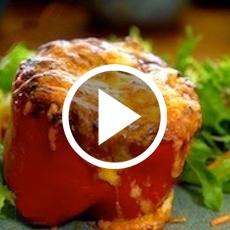 Cheesy Chilli Stuffed Peppers