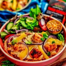 Chicken Tikka Pitta Pizza