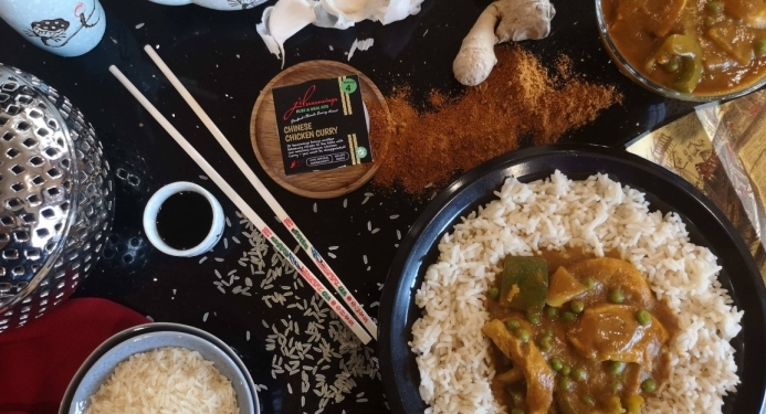 Delicious Chinese Chicken Curry recipe made with JD Seasonings