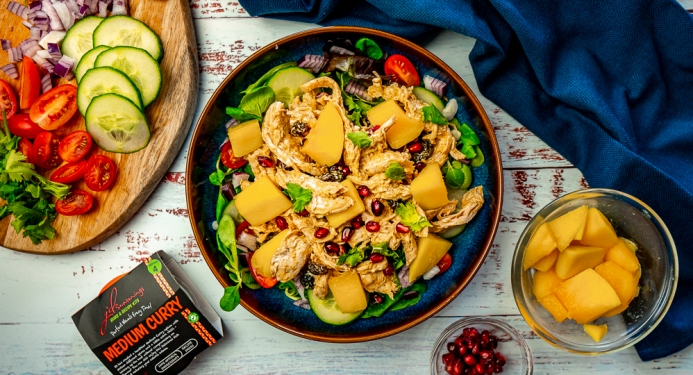 A recipe for Coronation Chicken And Mango Salad with JD Seasonings