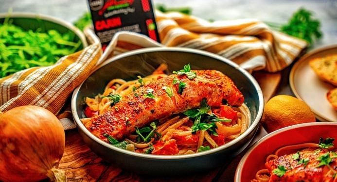 Creamy Cajun Salmon Linguini Recipe made with JD Seasonings