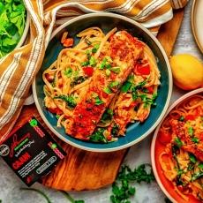 Creamy Cajun Salmon Linguini