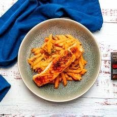 Creamy Cajun Salmon Pasta