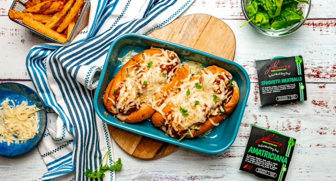 Garlic Bread Meatball Subs Recipe made with JD Seasonings
