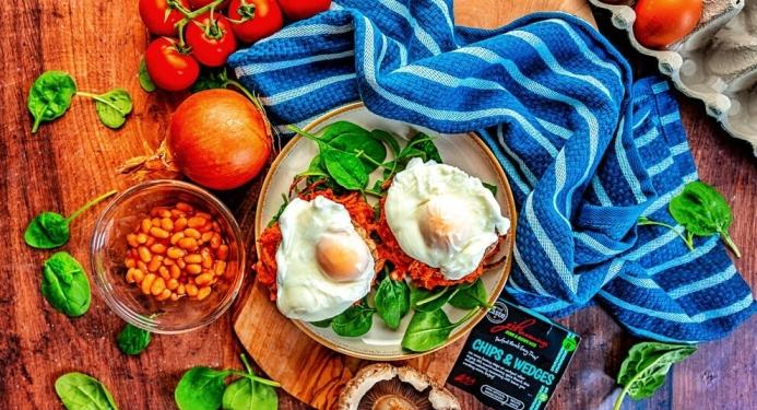 Hash Brown, Portobello & Poached Egg Stacks Recipe made with JD Seasonings