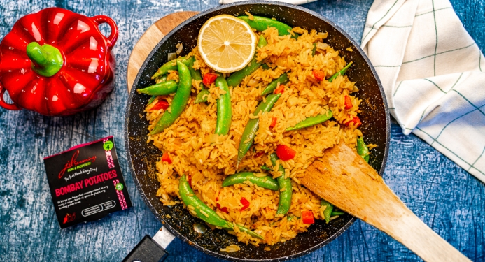 Indian Fried Rice Recipe made with JD Seasonings