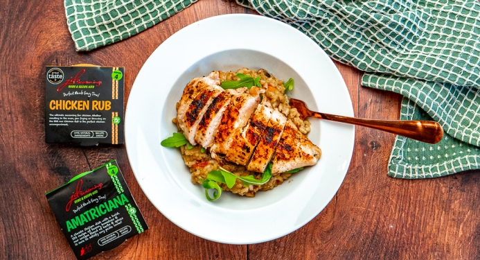 Italian Chicken Risotto Recipe made with JD Seasonings