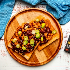 Mexican Beans on Toast