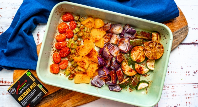 Mexican Roasted Veggies Recipe made with JD Seasonings