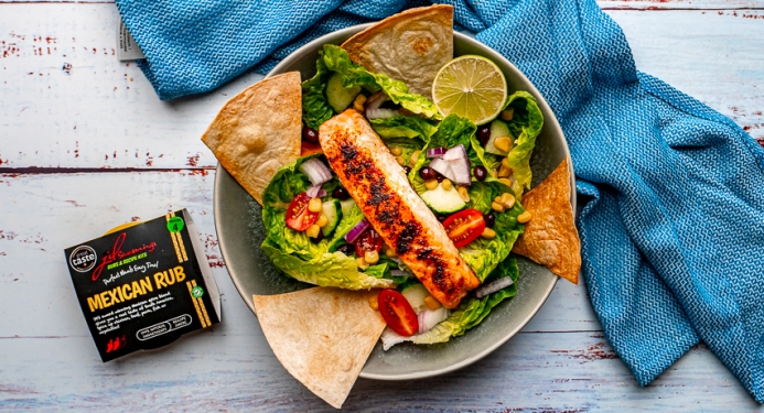 Mexican Salmon Salad Recipe made with JD Seasonings