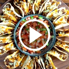 Mini Cheesy Taco Bites