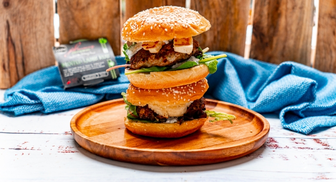 Minted Lamb & Halloumi Burgers Recipe made with JD Seasonings