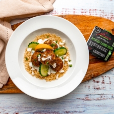 Minted Lamb Meatballs with Garlic Yoghurt & Cous Cous