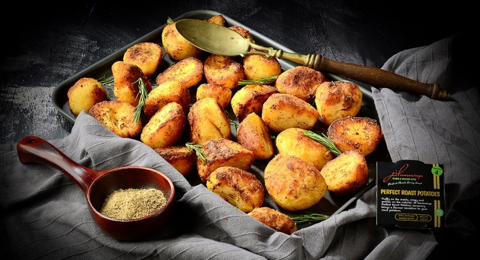 Delicious Perfect Roast Potatoes made with JD Seasonings