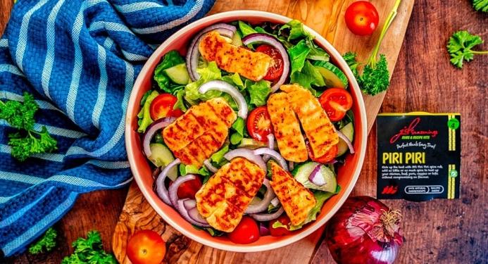 Piri Piri Halloumi Salad Recipe made with JD Seasonings