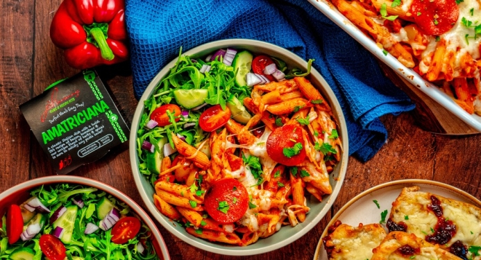 Pizza Pasta Bake Recipe made with JD Seasonings