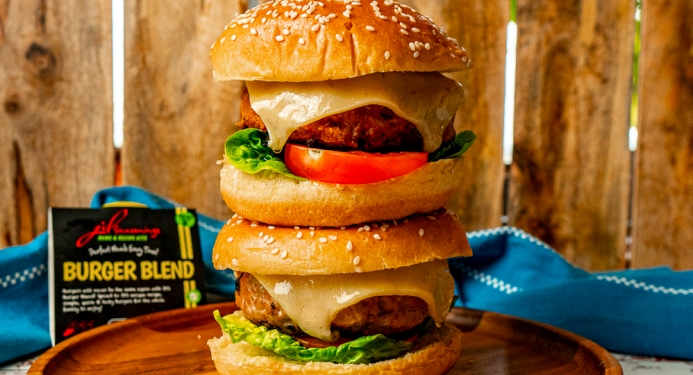 Pork, Apple & Cheddar Burgers Recipe made with JD Seasonings