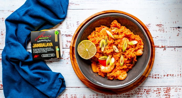 Prawn & Chorizo Jambalaya Recipe made with JD Seasonings