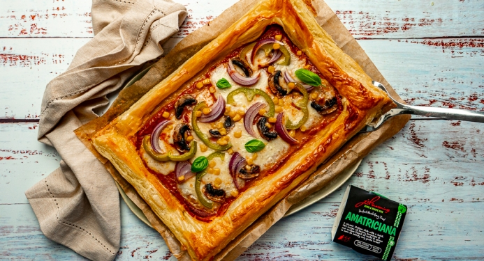 Puff Pastry Veggie Pizza Tart Recipe made with JD Seasonings