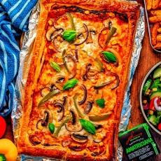 Puff Pastry Veggie Pizza Tart