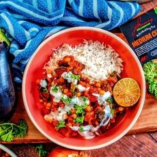 Roasted Aubergine & Chickpea Curry