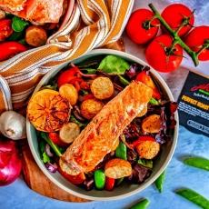 Salmon & Crispy Potato Salad