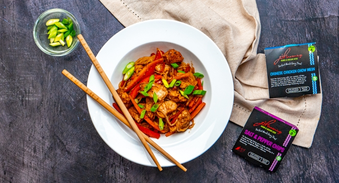 Salt and Pepper Chicken Chow Mein Recipe made with JD Seasonings