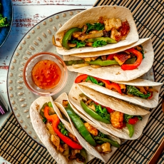 Salt & Pepper Halloumi Tacos
