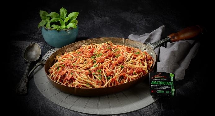 Spaghetti Amatriciana Recipe made with JD Seasonings