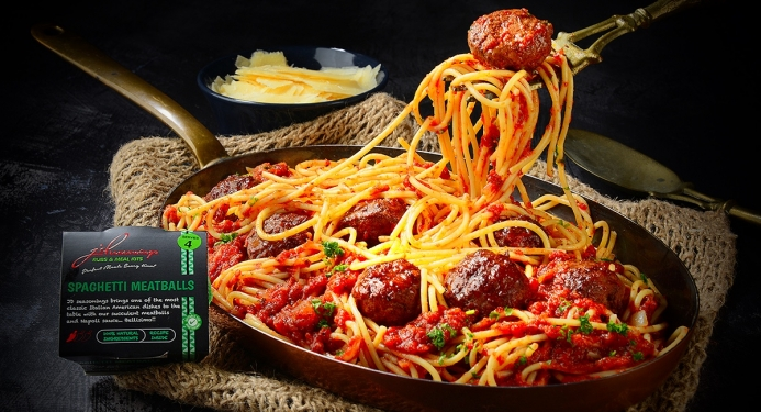 Delicious Spaghetti Meatballs made with JD Seasonings