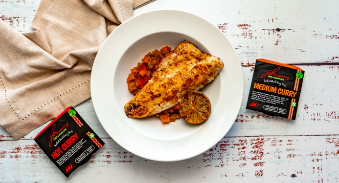 Spiced Seabass & Lentils Recipe made with JD Seasonings