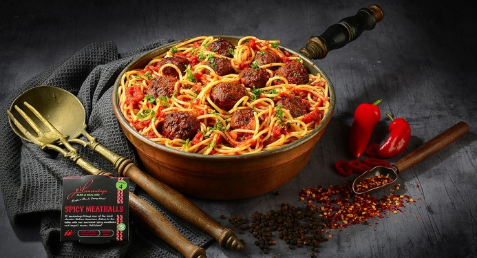 Delicious Spicy Meatballs made with JD Seasonings