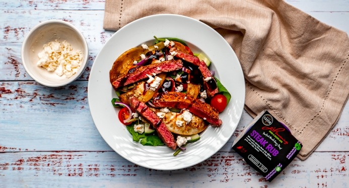Steak & Aubergine Salad Recipe made with JD Seasonings