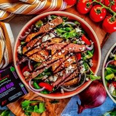 Steak & Aubergine Salad
