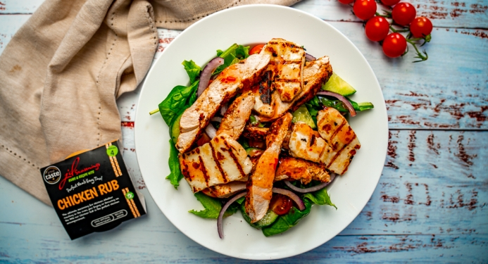 Sweet Chilli Chicken & Halloumi Salad Recipe made with JD Seasonings