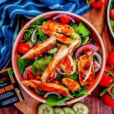 Sweet Chilli Chicken & Halloumi Salad