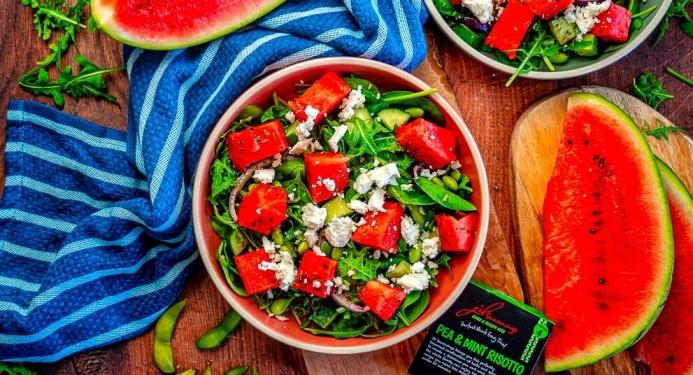 Watermelon Mint and Feta Salad Recipe made with JD Seasonings